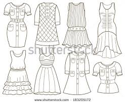 Collection Of Fashion Clothes Coloring Book
