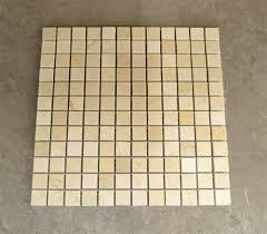 1 in x 1 in crema marfil marble 1x1 polished mosaic tiles