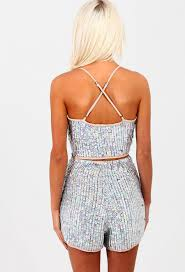 limited edition ecstasy silver sequin embellished high waisted
