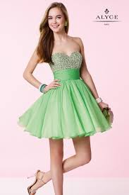 green chiffon bat mitzvah dress with a sequined bodice alyce