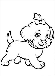 Printable Puppies Coloring Pages For Kids To Print Puppy Animal