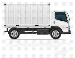 Small Cargo Truck With White Container Vector Image – Vector Artwork ...
