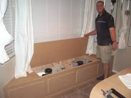 build storage bench window seat bench decoration