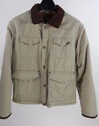 Mens Wrangler Hero Barn Coat w Brown Sherpa Lining Corduroy Collar