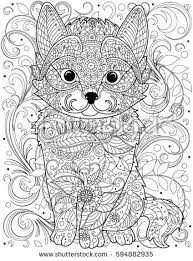 Cat Coloring Page For Adult