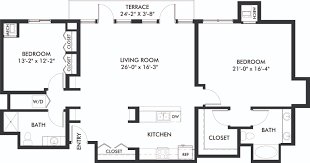 Bathroom Floor Plans With Washer And Dryer by Penthouse Style Executive Floor Plans Genesee