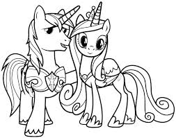 Princess Cadence Coloring Pages To Print My Little Pony Friendship Is Magic