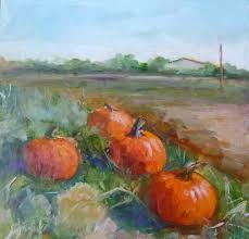 Pumpkin Picking Maine by Carol Josefiak Painting A Day Another Pumpkin Painting
