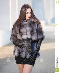 strelnikova svetlana woman fur coat and black leather gloves