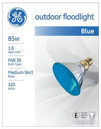 ge outdoor floodlight 13465 85 watt par38 blue light bulb with