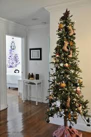 75 Flocked Slim Christmas Tree by Skinny Christmas Trees Skinny Primitive Christmas Trees Take Up