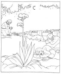 Jesus Praying In The Garden Of Gethsemane Coloring Page