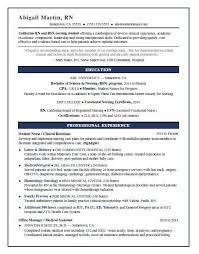 Nursing Student Sample Resume