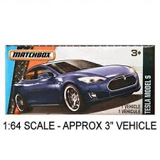 Amazoncom Matchbox Power Grabs Tesla Model S Blue 164 Scale