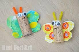 Kids Art Butterfly Cork Crafts