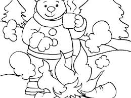 Typical Animals In Winter Coloring Pages C5634 For
