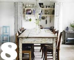 Impressive Rustic Chic Dining Table 5969 Of White