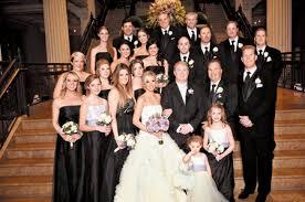 Black And White Wedding Party Attire Ideas