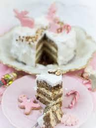 weihnachtstorte mit zimt und nüssen weihnachtliche torte