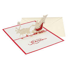 15 X 15cm 3D Christmas Themed Pop Up Cards Merry Christmas Card For