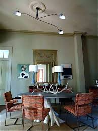 Off Center Light Fixture Chandelier Dining Room Charming