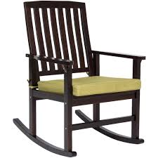 Best Choice Products Contemporary Patio Wood Rocking Chair W/ Seat Cus