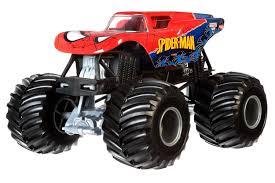 Amazon.com: Hot Wheels Monster Jam 1:24 Die-Cast Spider-Man Vehicle ...