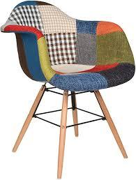 ts ideen 2er set design patchwork sessel wohnzimmer büro stuhl esszimmer sitz holz stoff bunt