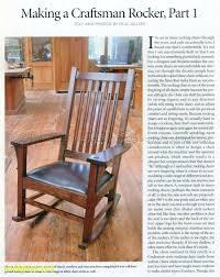 1861 Craftsman Rocking Chair Plans Furniture