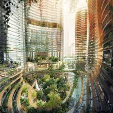 100 Atrium Architects Propose Jungleinfused Towers Featuring
