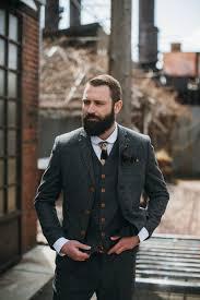 Latest Coat Pant Designs Grey Tweed Custom Tuxedo Bridegroom