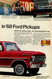 100 68 Ford Truck 19 Truck 19 Pickup Advertisement Photo Picture