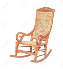 100 Woven Cane Rocking Chairs An Antique Chair Isolated On White Stock Photo