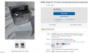 siege avion air insolite 10 objets d avion vendus sur ebay photo air journal