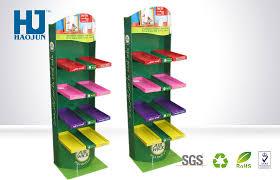 Creative Design Cardboard Floor Displays Showy Beauty Paper Display Racks For Socks