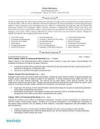 Police Officer Resume Examples Download Sample For Ficer