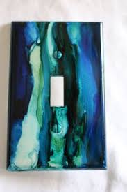 Hand Painted Alcohol Ink Switch Plate Cover by MyMothersDaughters