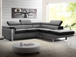 canapé cuir gris anthracite canapé d angle en cuir de vachette 4 coloris mystique