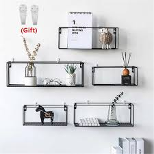 Iron Wall Shelf Wall Mounted Storage Rack Organization For