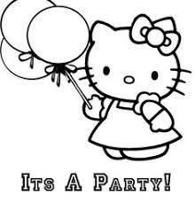 Happy Hello Kitty Coloring Pages One Again Free Disney Which Very Cute Can Make Our Kids Feel E
