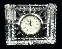 boutique small crystal plastic desk bell alarm clock with