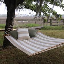 Quilted Fabric Hammock in Decade Sand