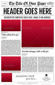 Newspaper Template For Mac Pages
