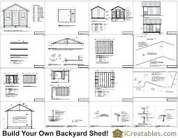 12x16 Gambrel Storage Shed Plans Free by Garden Shed Plans 12x16 Gambrel Storage Free Gable Outdoor Barn