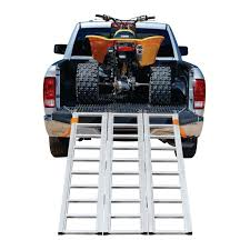 100 Truck Bed Ramp 1500 Lb Capacity TriFold Aluminum Loading