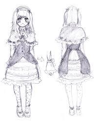 Dress Design Sketch By Kuroi Sakuranbo
