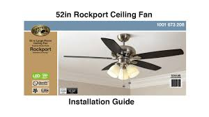 Mainstays Ceiling Fan Wiring Diagram by How To Install The Hampton Bay 52
