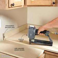 Cabinet Filler Strip Install by How To Install A Countertop Family Handyman