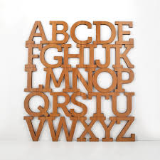 Lovely Decoration Alphabet Letters Wall Decor Wooden Abc Art Simple Ideas Crna Cover Letter Wo