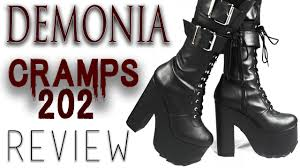 demonia cramps 202 platform boots review youtube